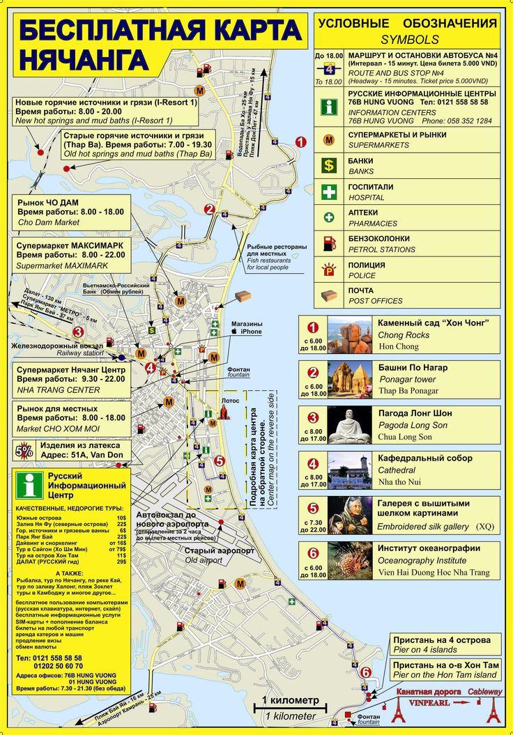 Карта достопримечательностей Нячанга