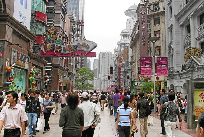 Шанхай торговая улица