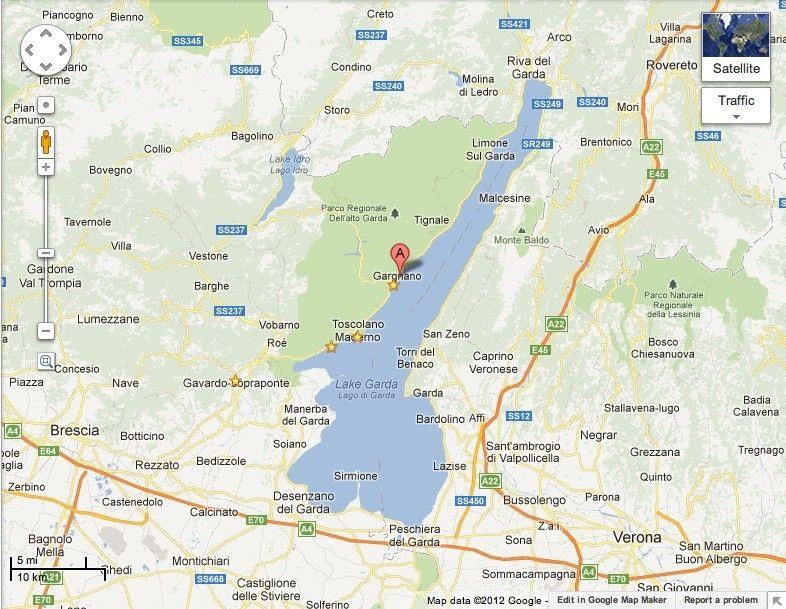 Карта озера Гарда